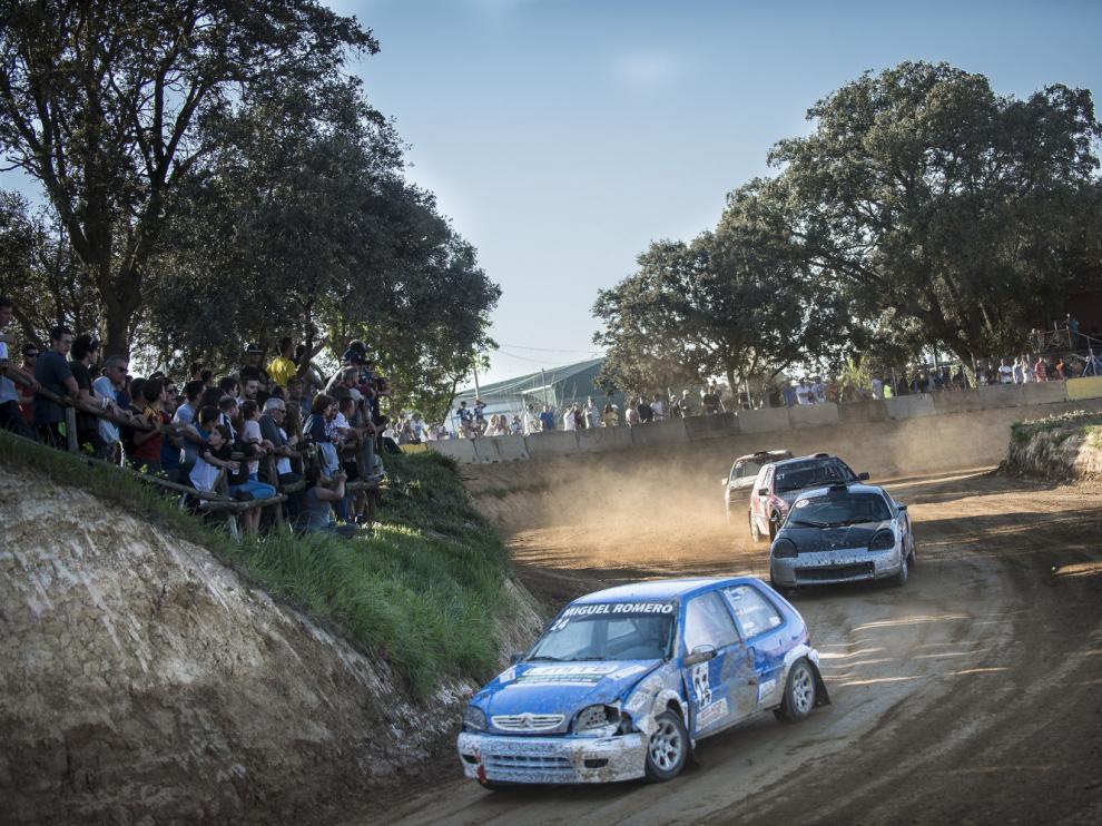 Carrera de la pasada edición del autocross de Esplús