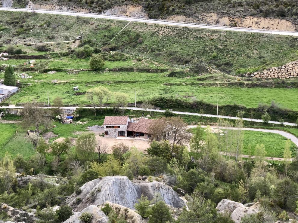 La casa pasiva de madera en Fiscal, Huesca