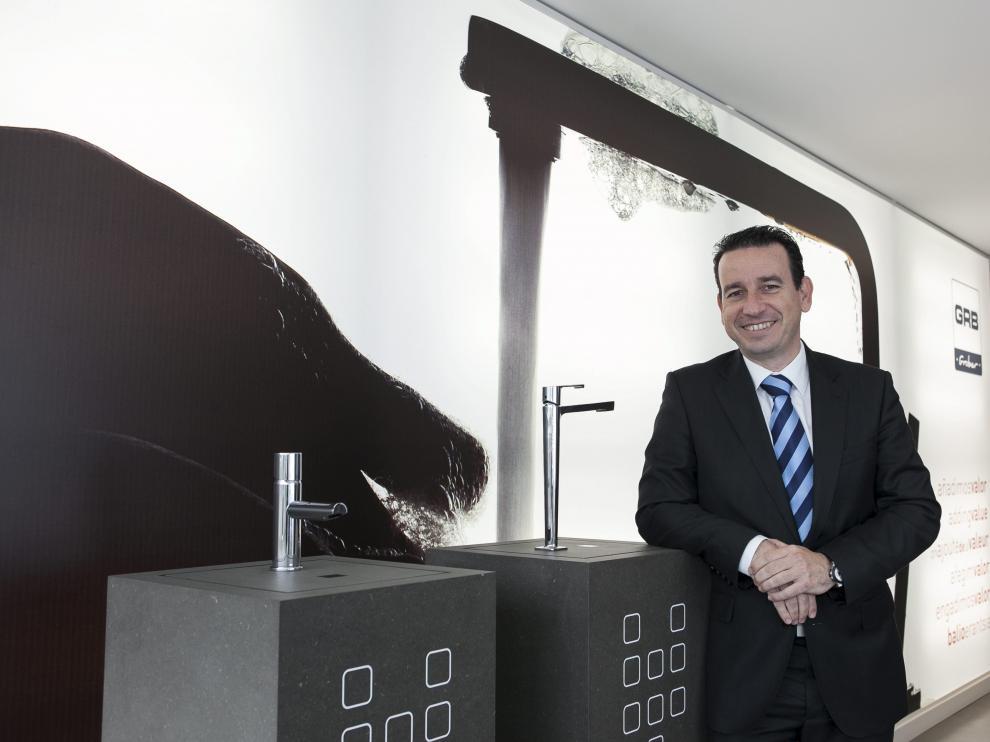 El consejero delegado de la firma aragonesa GRB, Roberto Ladrón, en las instalaciones de Plaza