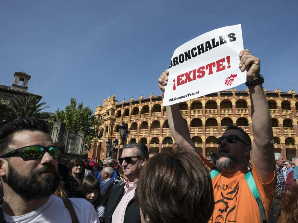 Imagen de archivo de una manifestación de Teruel Existe en las calles de Zaragoza