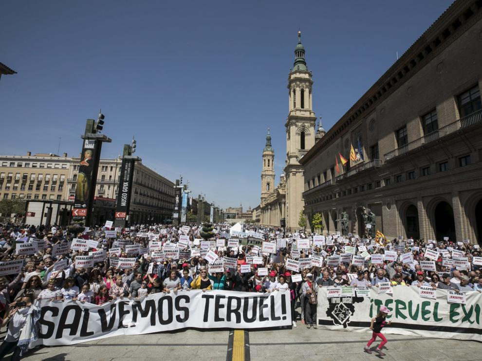Manifestación por Teruel en Zaragoza.