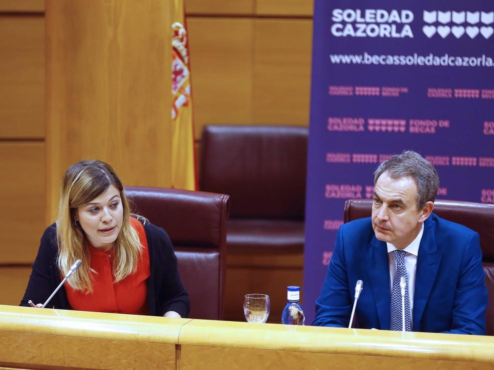 José Luis Rodríguez Zapatero ha sido el encargado de clausurar la 'II Jornada Huérfan@s de la violencia de género'.