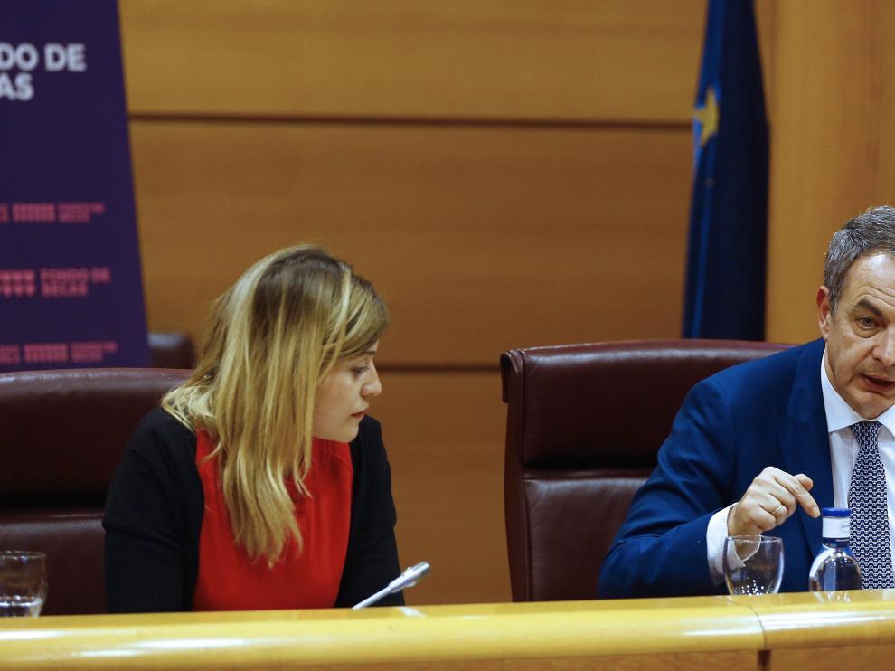 José Luis Rodríguez Zapatero durante la clausura de la II Jornada Huérfan@s de la violencia de género.