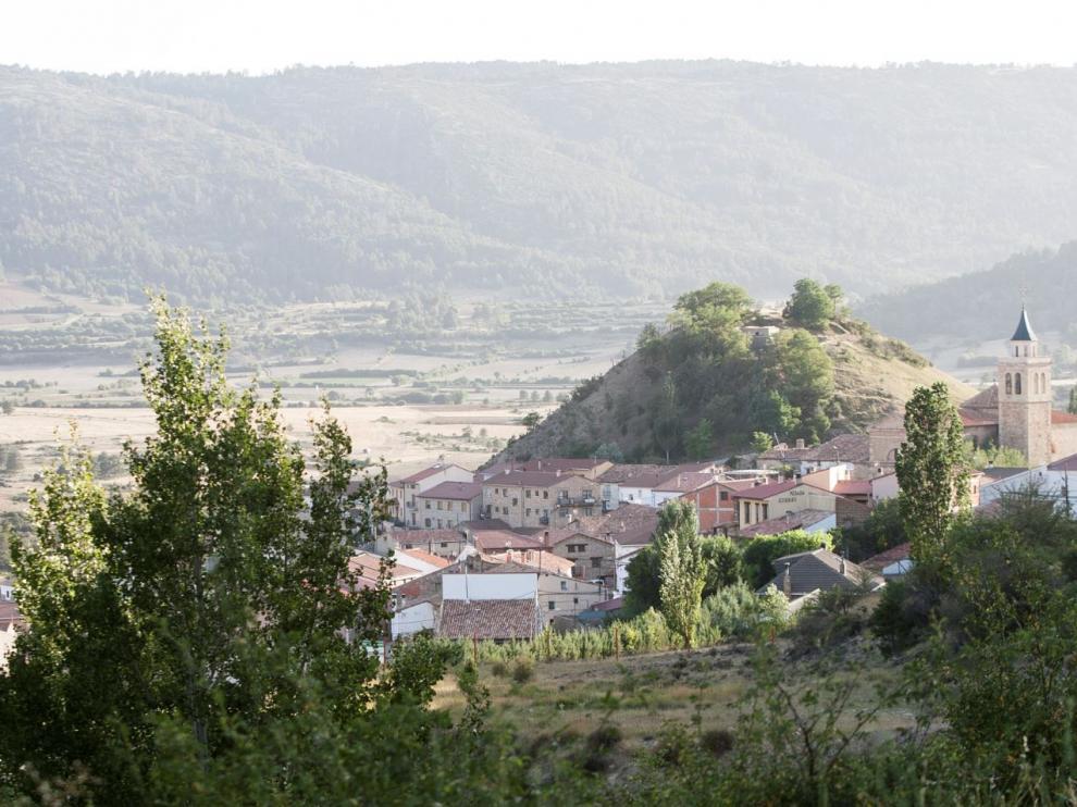 Vistas de la localidad turolense de Frías de Albarracín.