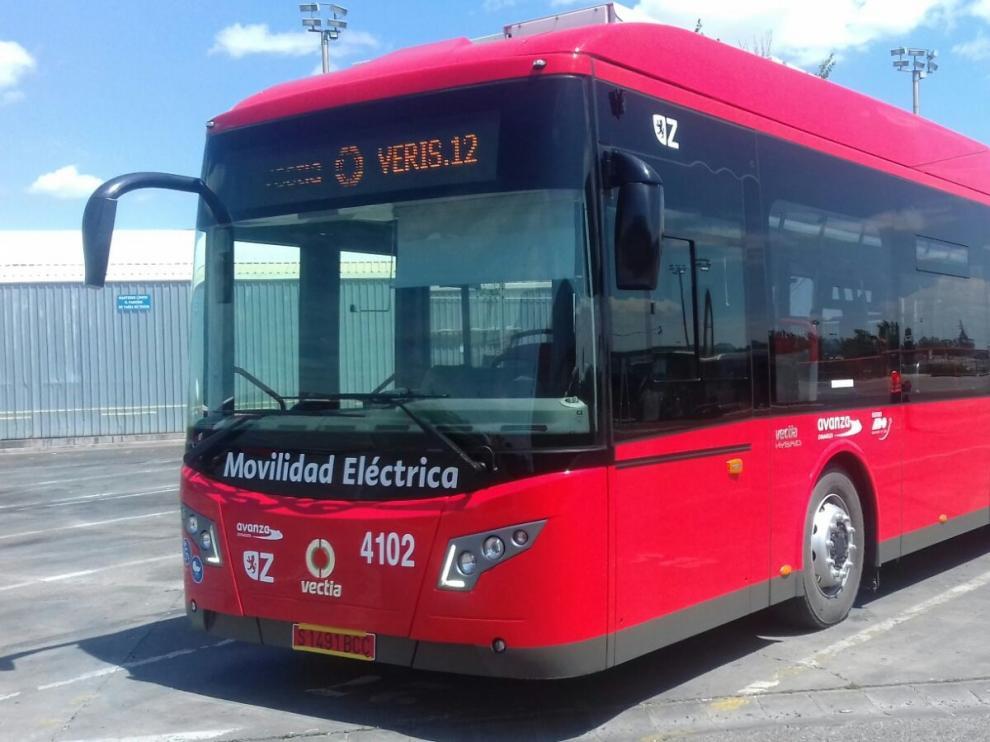 El nuevo autobús que se incorpora en pruebas al transporte urbano de Zaragoza.