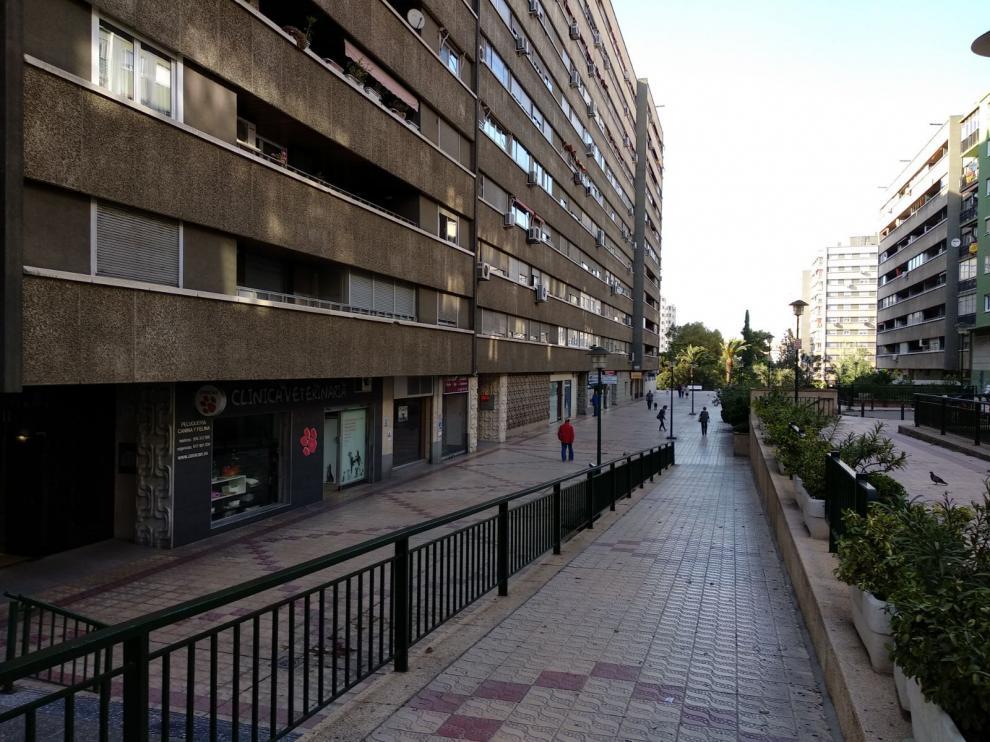 Interior de la urbanización de Parque Roma.