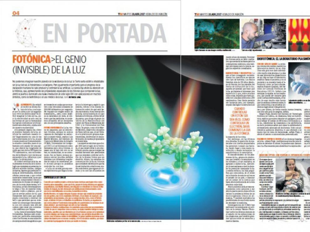 El reportaje de Patricia Luna sobre fotónica ha recibido el segundo premio Fotón Emitido