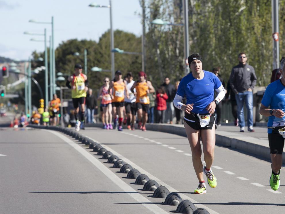 Imagen de la pasada edición del maratón de Zaragoza