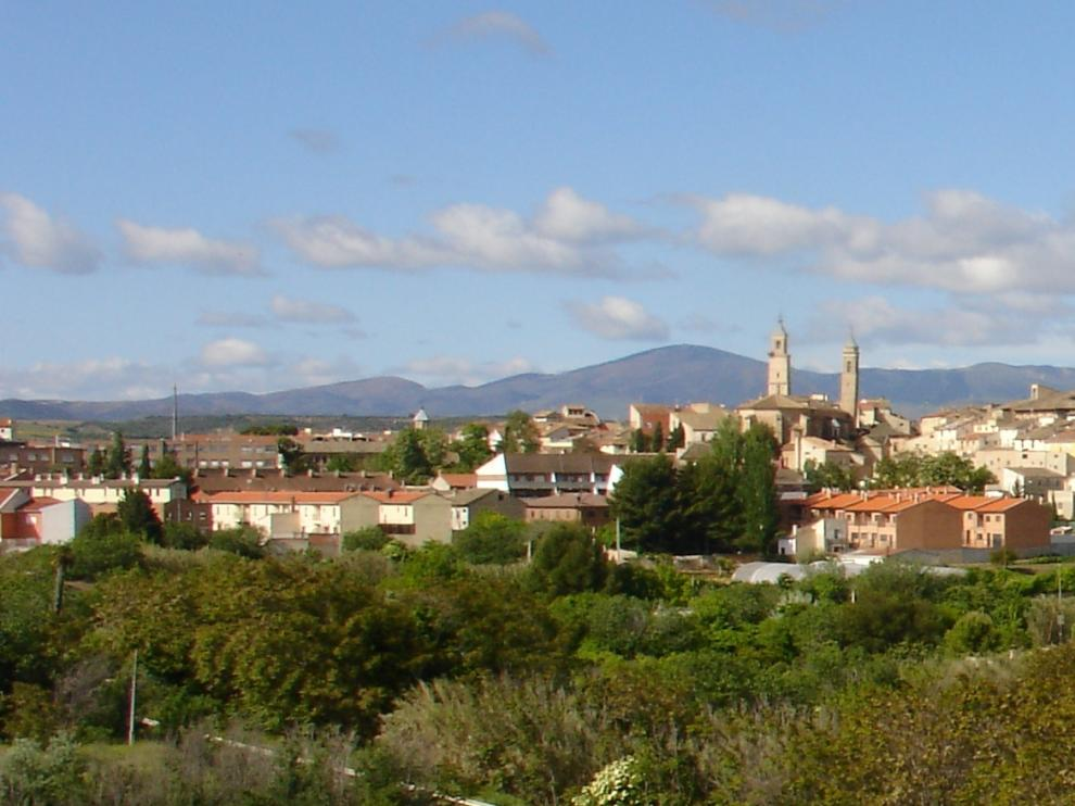 La localidad de Borja, custodiada por el castillo.