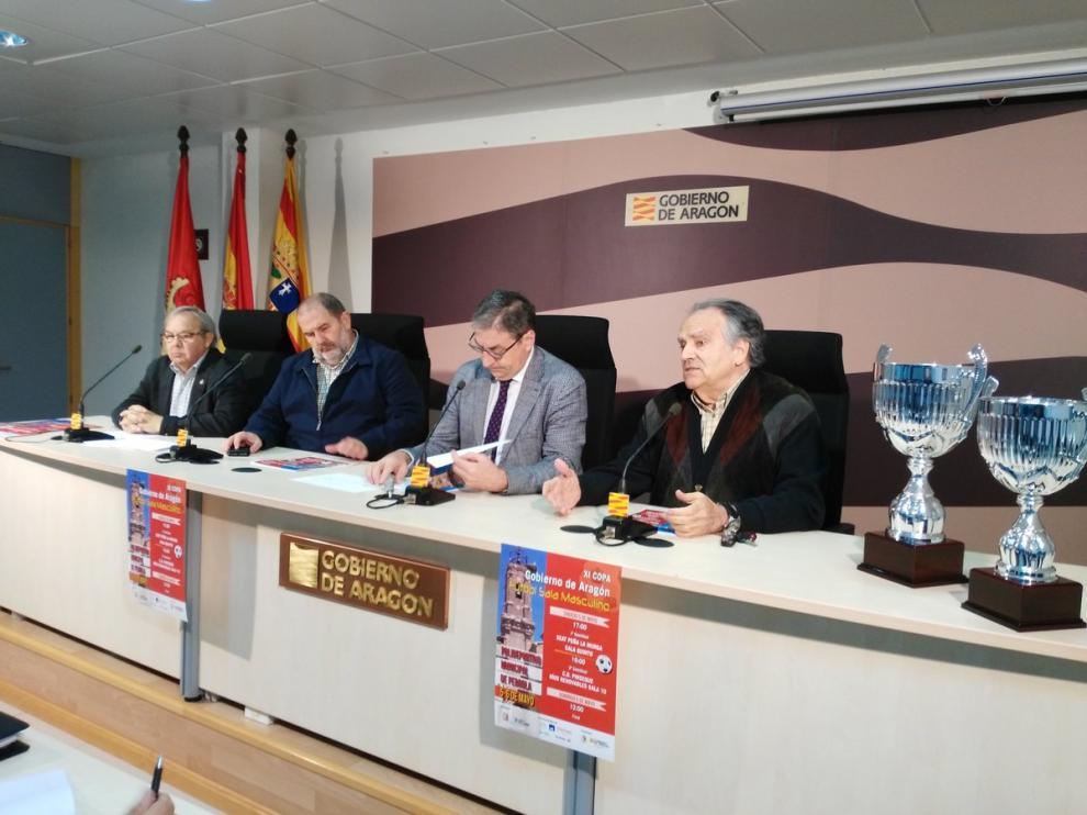 Presentación de la fase final de la XI Copa Gobierno de Aragón de fútbol sala.