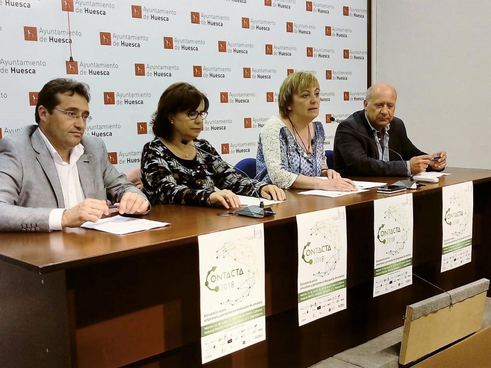 Jesús Alfaro, Carmen Launa, Pilar Novales y Pedro Bergua.
