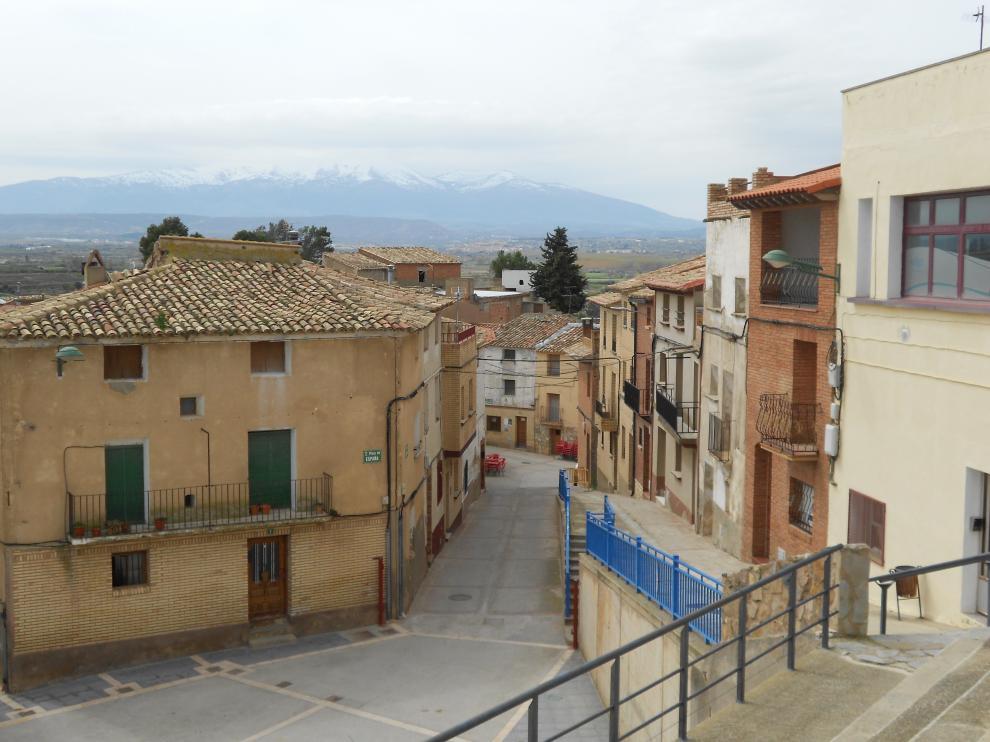 Vista de las calles del pueblo.
