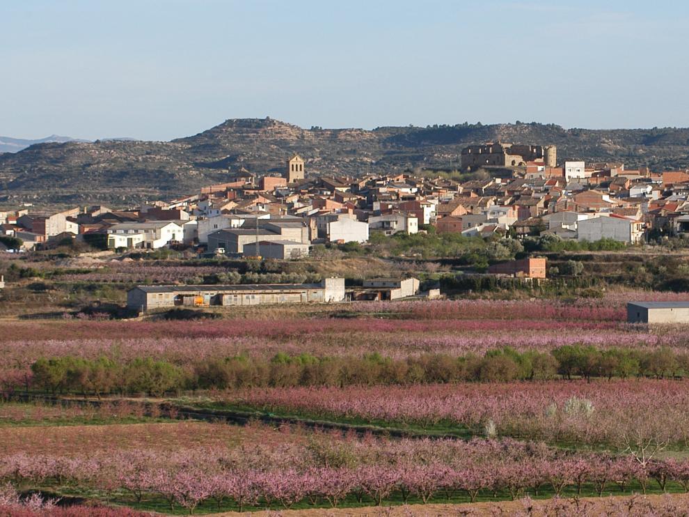 Vista panorámica de la localidad de Maella