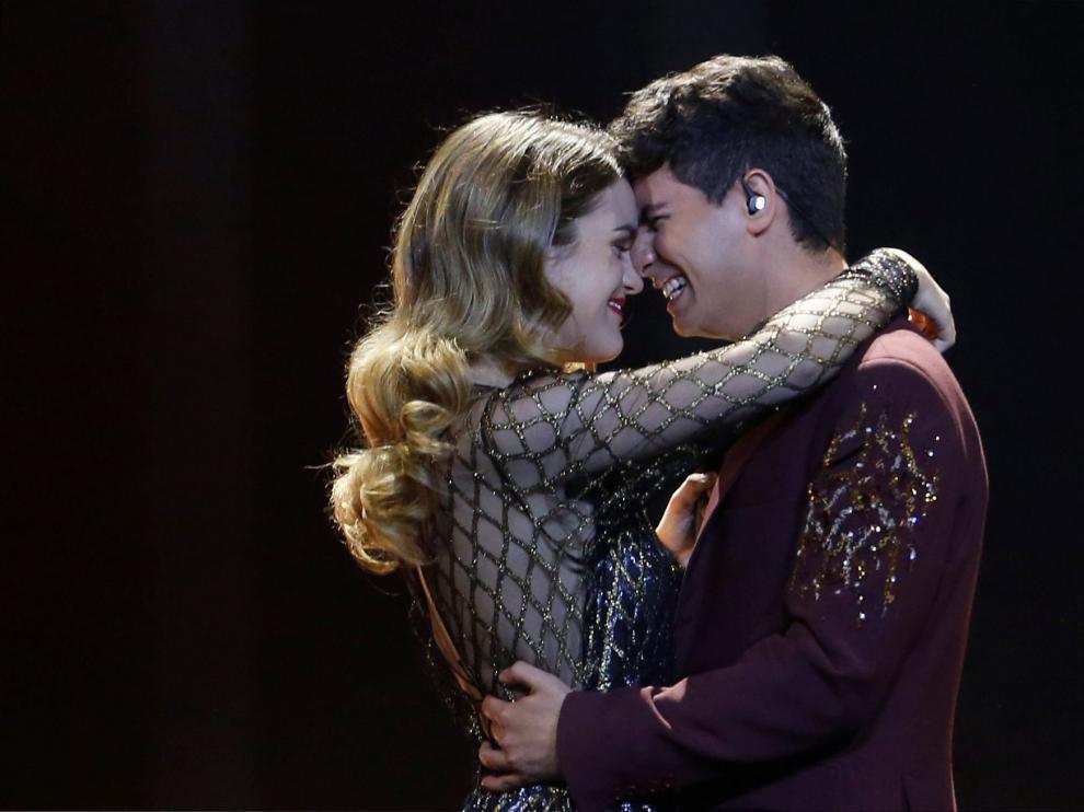 Amaia y Alfred, en el festival de Eurovisión