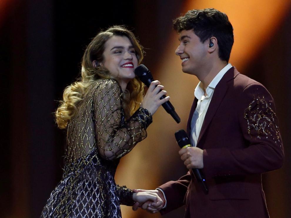 La actuación de Alfred y Amaia de OT 2017 el pasado año en Eurovisión.