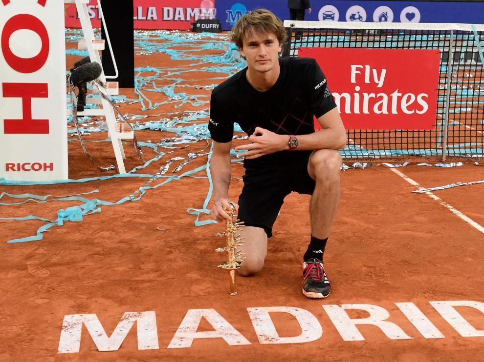 Zverev celebra el Master de Madrid.