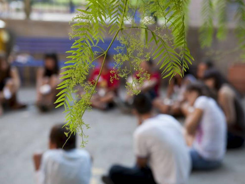 Imagen de archivo de unas jornadas sobre acogimiento celebradas en Zaragoza.