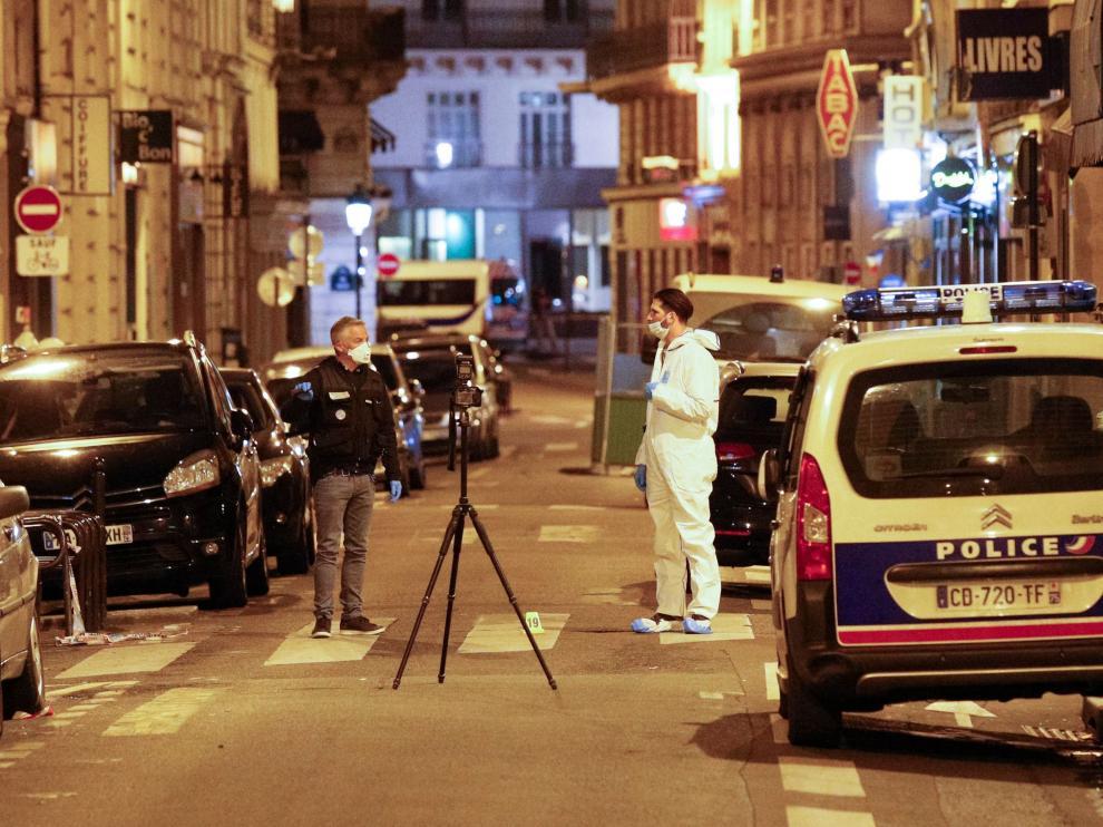 Lugar del ataque, en la zona turística de la Ópera de París.