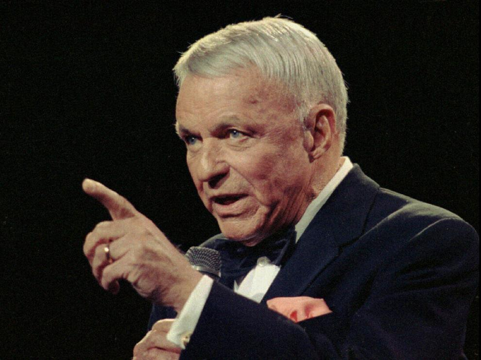 Frank Sinatra, en un concierto en Nueva York en 1990.