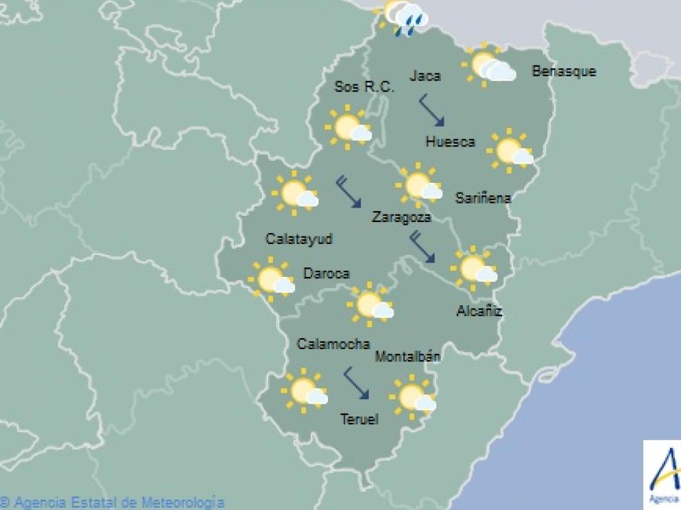 Tiempo para este lunes en Aragón