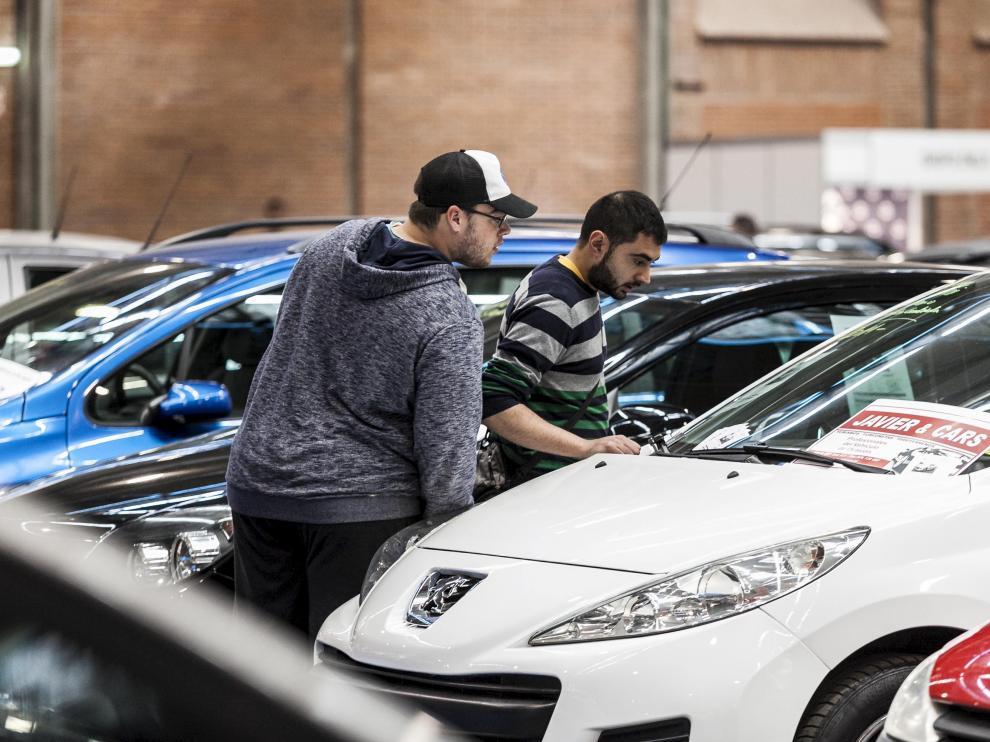 Coches expuestos en una pasada edición en Stock Car, que se celebra entre el 17 y el 20 de mayo en la Feria de Zaragoza.