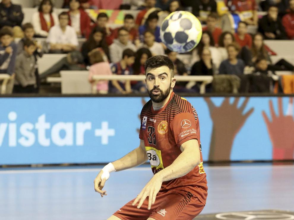 Álex Marcelo en un partido de esta temporada en el Palacio.