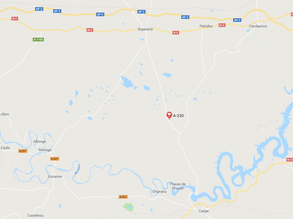El accidente se ha producido en el kilómetro 10,500 de la A-230.