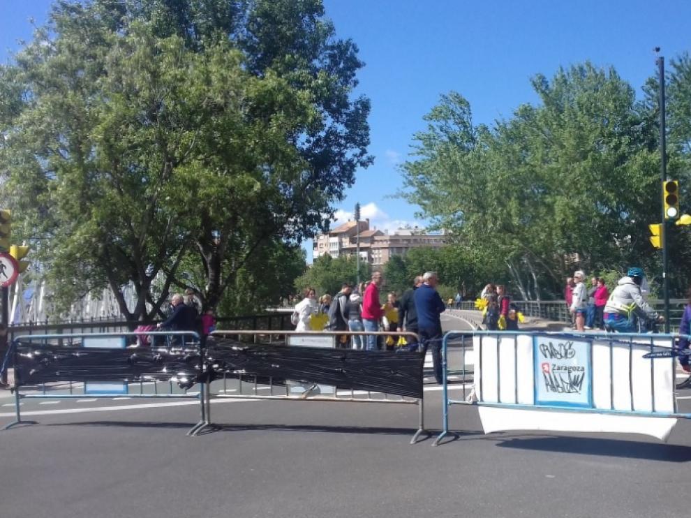 El barrio de Jesús, cortado el pasado domingo por la celebración de la maratón de Zaragoza