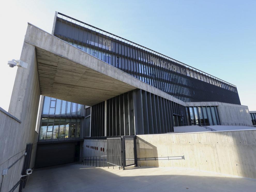 Vista exterior de la Audiencia de Huesca, donde se ha celebrado el juicio