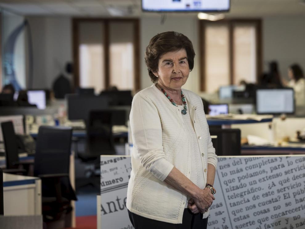 Pilar de Yarza, presidenta-editora de HERALDO, este miércoles, en la redacción del periódico