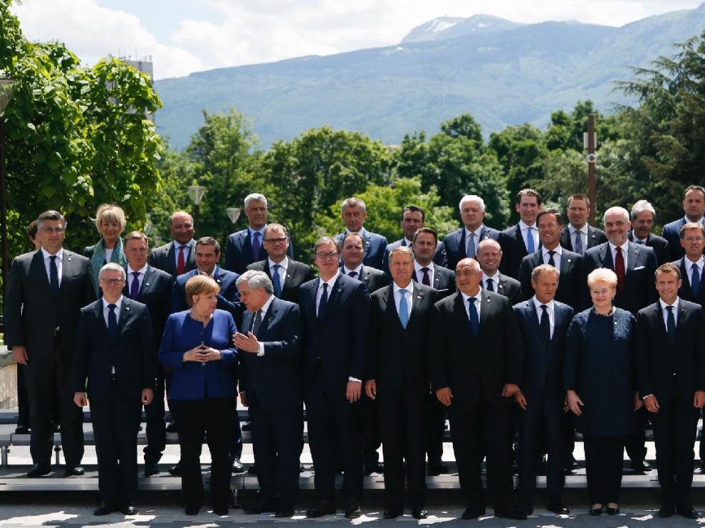 Representantes de los Veintiocho que conforman la Unión Europea