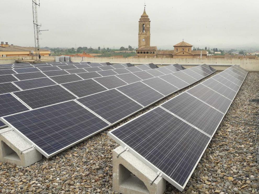Instalación de energía solar en el Ayuntamiento de Binéfar