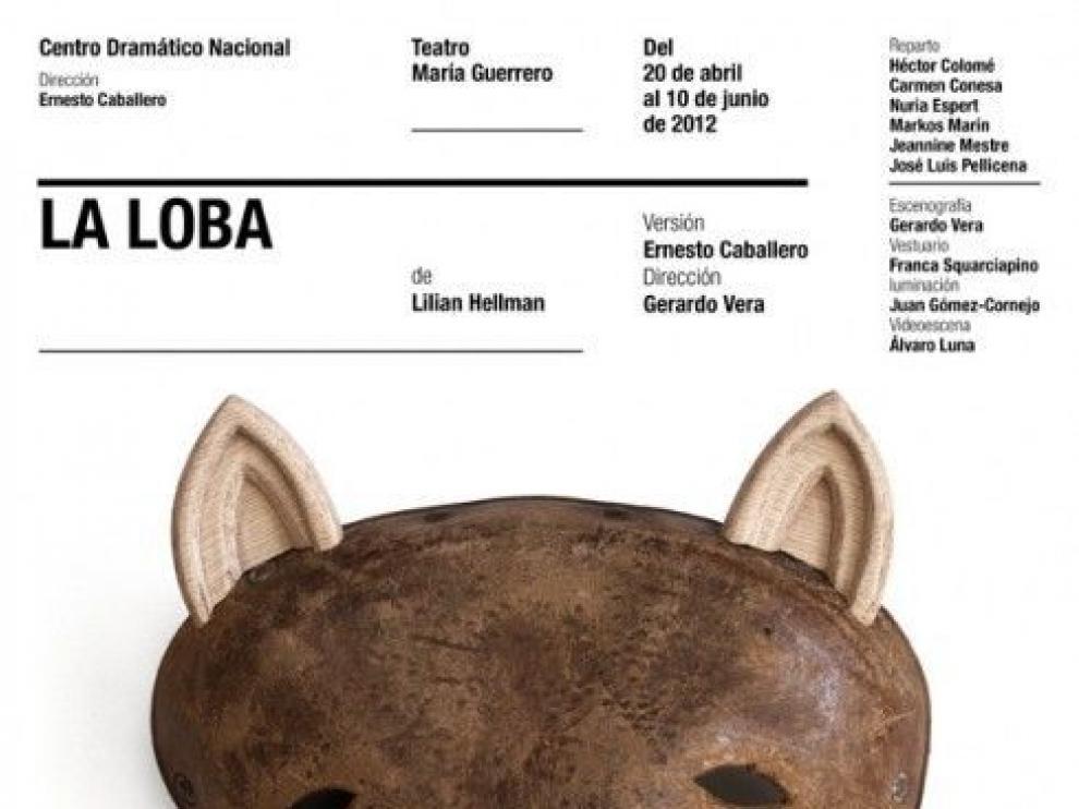 Cartel de la obra 'La loba'.