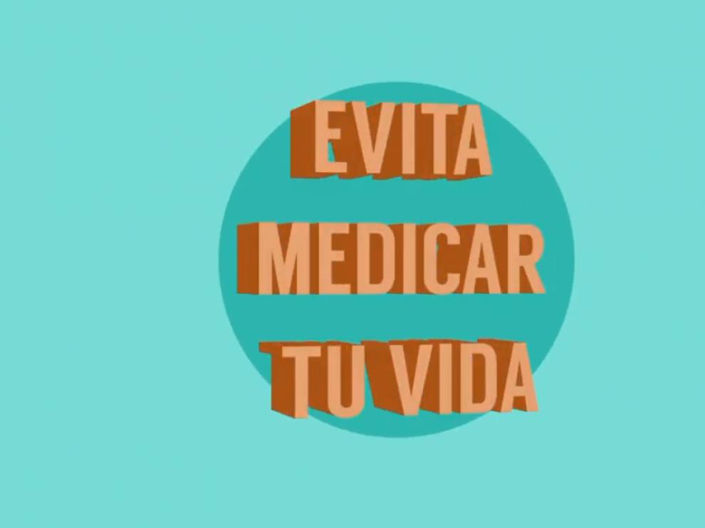 Fotograma del vídeo lanzado por el Gobierno de Aragón para  sensibilizar  sobre el consumo adecuado de medicamentos.
