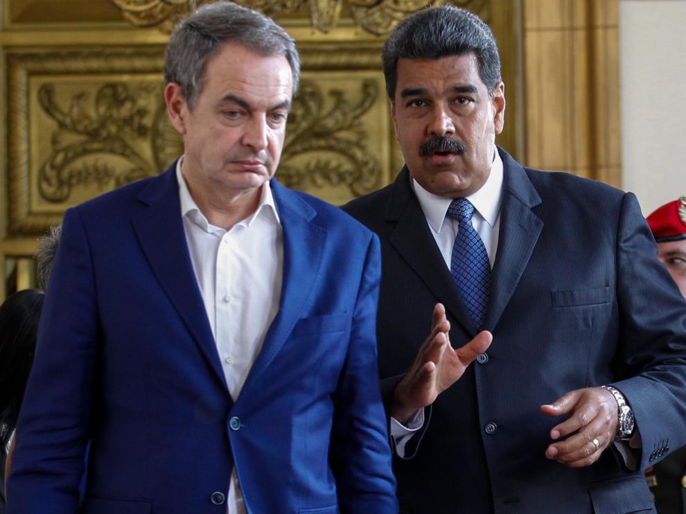 Zapatero junto a Maduro el pasado viernes