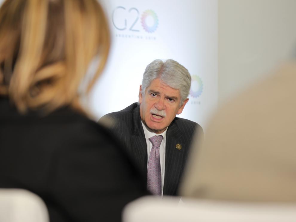 El ministro Dastis, este lunes en Buenos Aires.