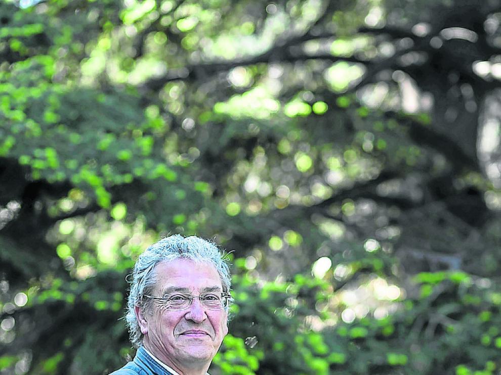 Juan Barriuso, en la Facultad de Veterinaria de la Universidad de Zaragoza.