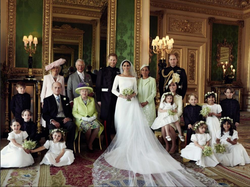Fotografías oficiales de la boda real.