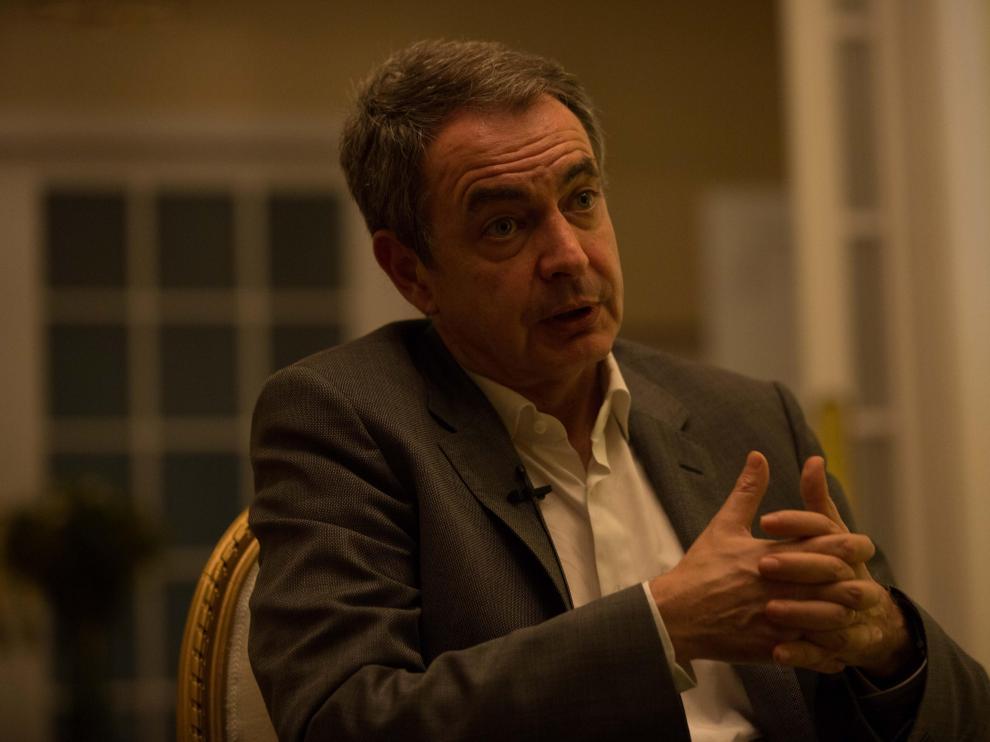 El expresidente del Gobierno español, José Luis Rodríguez Zapatero, durante una entrevista con Efe este domingo.