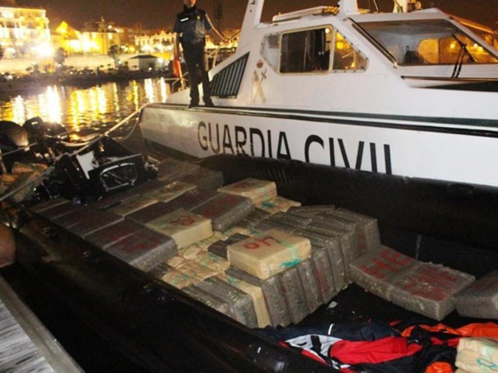 Droga incautada en la embarcación