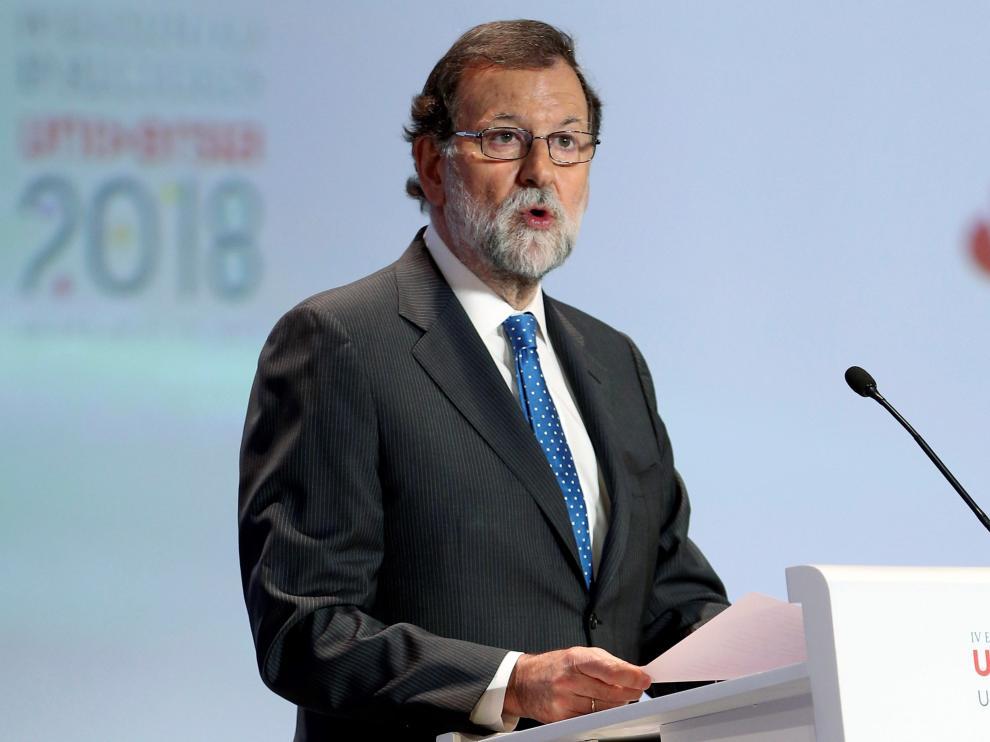 El presidente del Gobierno, Mariano Rajoy, en el acto de clausura del IV Encuentro Internacional de Rectores Universia
