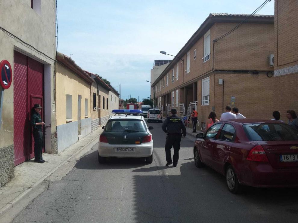 Imagen de archivo de una reciente intervención de la Guardia Civil en Villamayor.