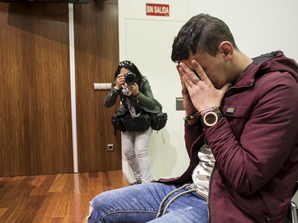 El acusado, durante el juicio celebrado en la Audiencia Provincial de Zaragoza.