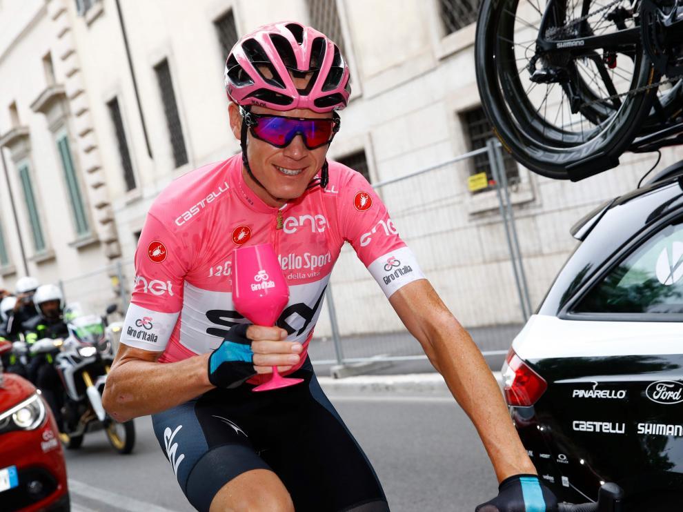 Froome tras ganar el último Giro.