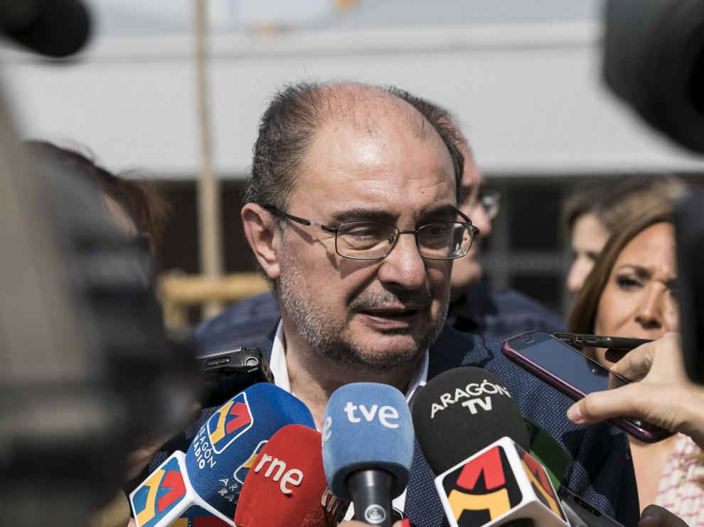 Javier Lambán, presidente del Gobierno de Aragón.