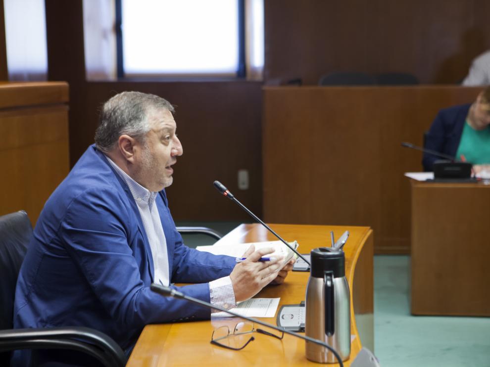 El director general de Energía, Alfonso Gómez, en su comparecencia ante las Cortes, este martes.