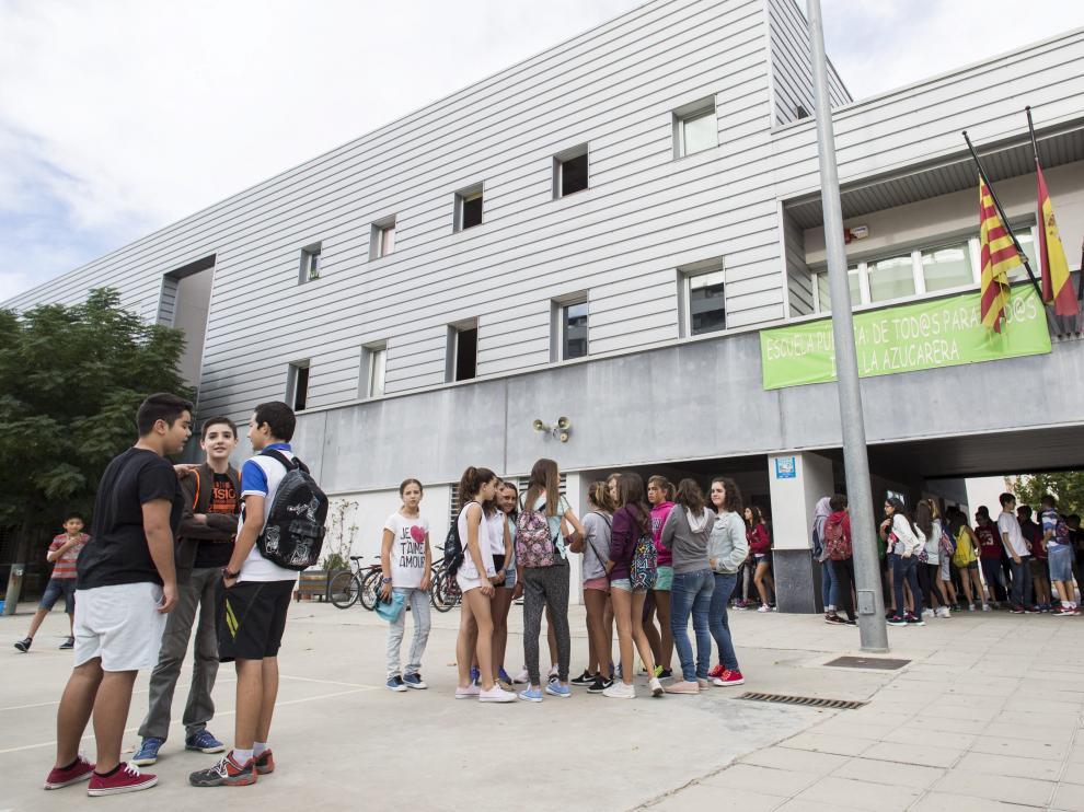 Un grupo de alumnos en el inicio del curso en el Instituto de La Azucarera