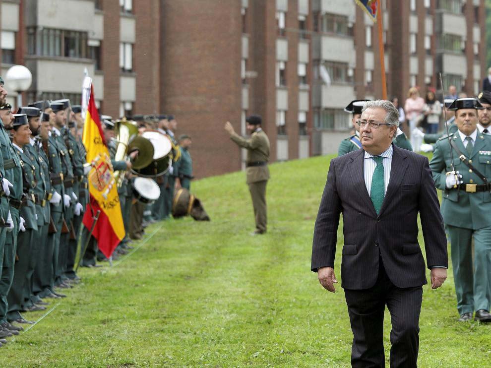 Juan Ignacio Zoido, ministro de Interior, en el 50 aniversario de la muerte de José Antonio Pardines.