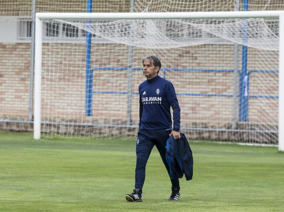 Natxo González, durante un entrenamiento en la Ciudad Deportiva