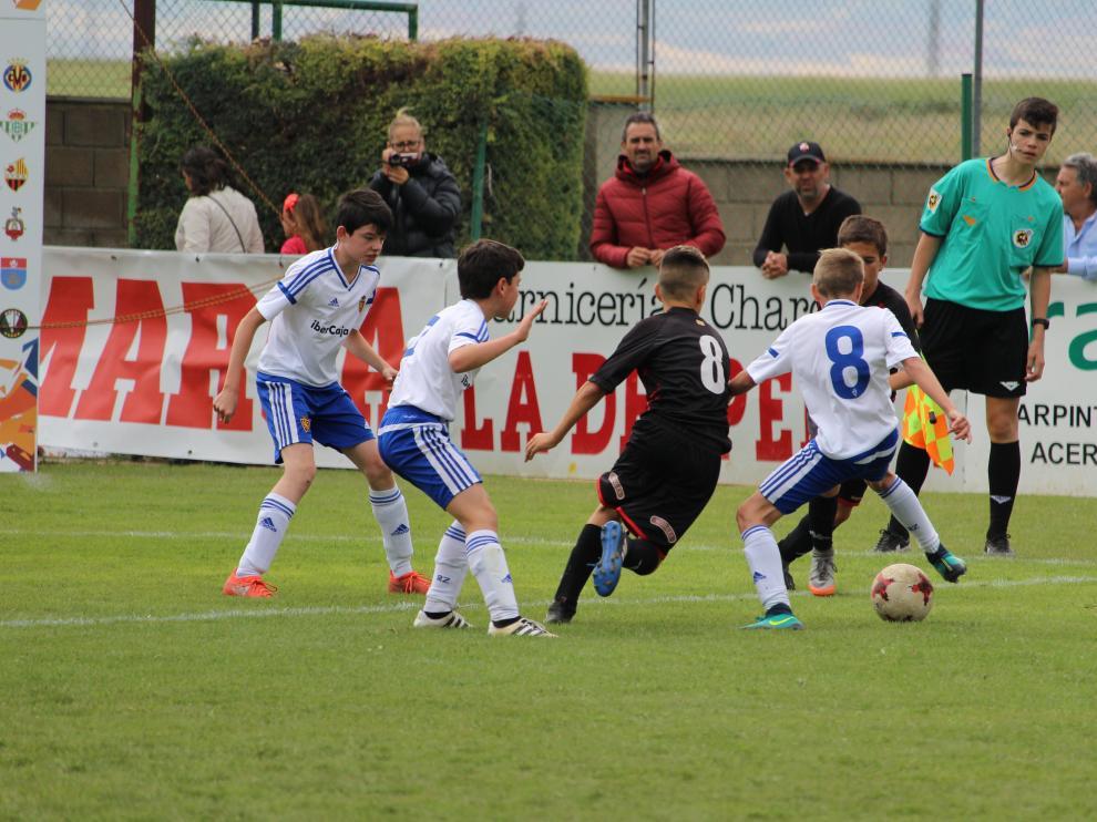 Imágen de un partido del Real Zaragoza en la edición de 2017 de la Jamón Cup.